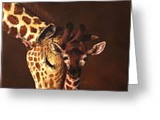 Love And Pride Giraffes Greeting Card