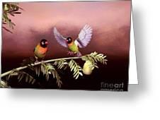 Love Birds By John Junek  Greeting Card