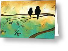 Love Birds By Madart Greeting Card
