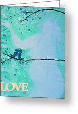 Love Birds In Blue Maternity Greeting Card