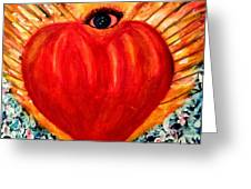 Love Comes From Within Is Forever By V.sisk Greeting Card