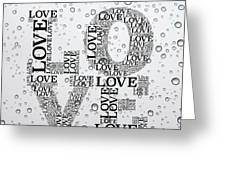Love Droplets Greeting Card