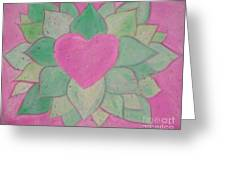 Love Flowers Greeting Card