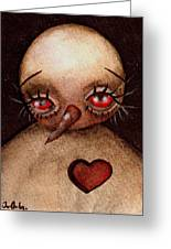 Love Hurts Greeting Card by  Abril Andrade Griffith