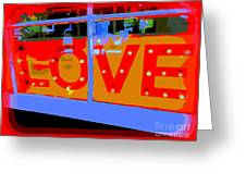 Love  In Lights Greeting Card