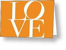 Love In Orange Greeting Card by Michael Tompsett