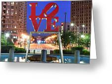 Love In Philly Greeting Card