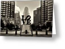 Love In Sepia Greeting Card