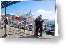 Love In The Port Of Valpaparaiso-chile Greeting Card