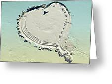 Love In The Sand Greeting Card