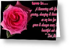 Love Is ... Greeting Card