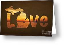 Love Lake Michigan Greeting Card