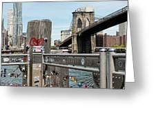Love Locks In Brooklyn New York Greeting Card