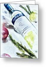 Love My Wine Greeting Card by Pennie  McCracken