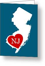 Love New Jersey White Greeting Card