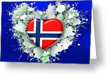 Love Norway 2 Greeting Card