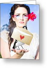 Love Note Delivery From The Heart Greeting Card