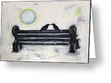 Love On A Bench Greeting Card