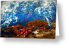 Love On A Wave Greeting Card