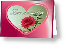 Love One Another Card Greeting Card