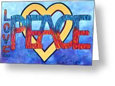 Love Peace Greeting Card