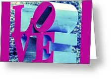 Love Philadelphia Neon Pink Greeting Card