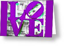 Love Philadelphia Purple Digital Art Greeting Card