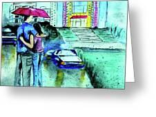 Love Rain Greeting Card