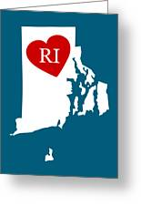 Love Rhode Island White Greeting Card