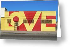 Love Store Front Greeting Card