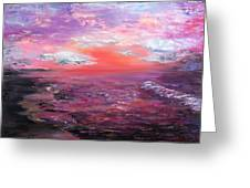 Love Sunsets And Dawns Greeting Card