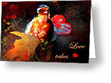 Love Takes Flight Greeting Card