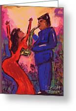 Love That Sax Man Greeting Card