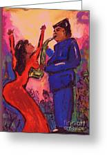 Love That Sax Man Greeting Card