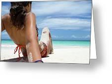 Love The Beach Greeting Card