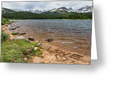 Love The Colorado Rocky Mountains Greeting Card