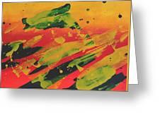 Love Those Diagonals - Yellow 1 Greeting Card