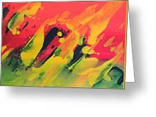 Love Those Diagonals - Yellow 2 Greeting Card