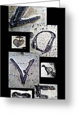 Love Written In The Trees 4 Greeting Card