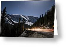 Loveland Pass Night Greeting Card by Michael J Bauer