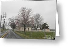 Lovely Day At An Amish Schoolhouse Greeting Card