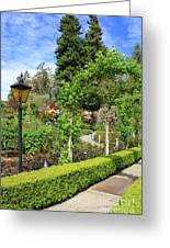 Lovely Day In The Garden Greeting Card by Carol Groenen