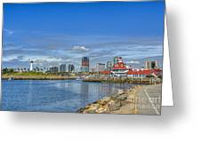 Lovely Day Long Beach Greeting Card
