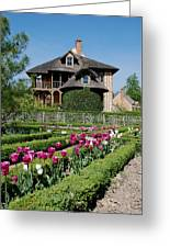 Lovely Garden And Cottage Greeting Card by Jennifer Ancker