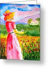 Lovely Lady Landscape Greeting Card