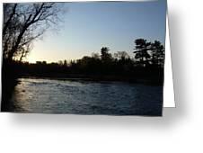 Lovely Light On Mississippi River Greeting Card