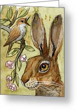 Lovely Rabbits - By Listening To The Song Greeting Card