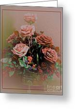 Lovely Rustic Rose Bouquet Greeting Card