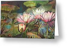 Lovely Waterlilies 7 Greeting Card