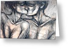 Lovers - Kiss Greeting Card